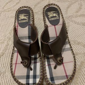 Burberry Shoes - Burberry espadrille wedge sandals